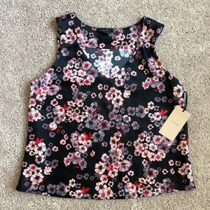 NWT Halogen Black/Pink petite S blouse